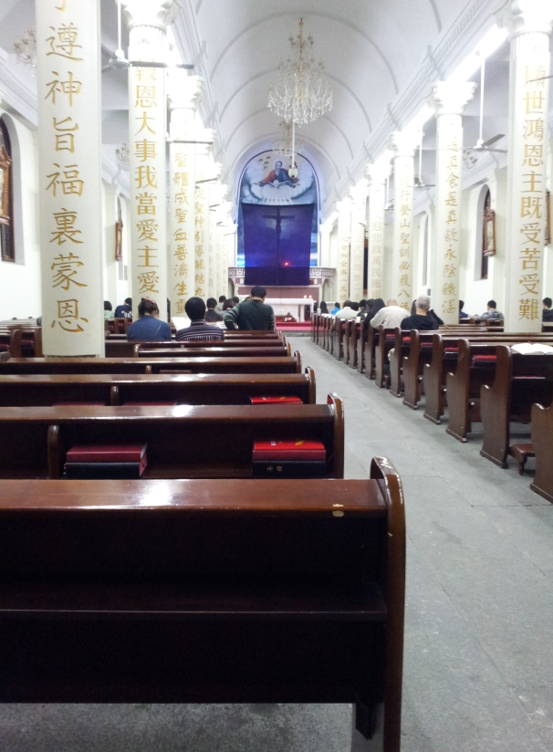 Easter 2012 - Newly renovated interior of Hangzhou Catholic Church of Our Lady Of The Immaculate Conception