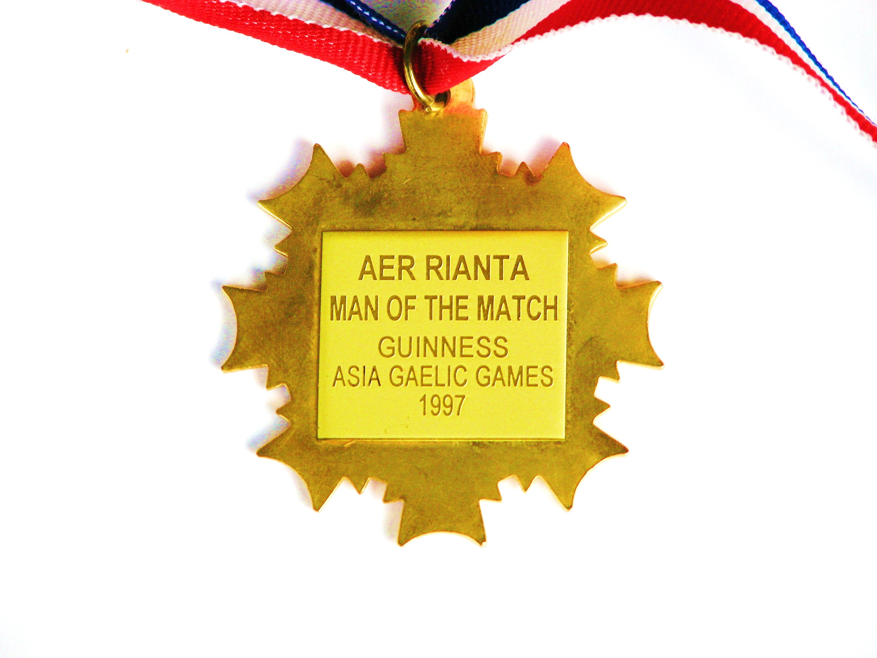 Asia Gaelic Games, Manila 1997- Korea Gaelic Football Team Kimchi Kickers - Man of the match player of tournament Medal