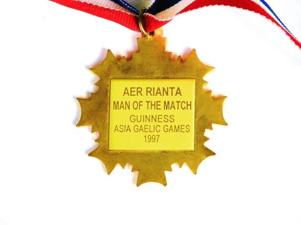 Asia Gaelic Games, Manila 1997- Korea Gaelic Football Team Kimchi Kickers - Man of the match player of tournament Medal