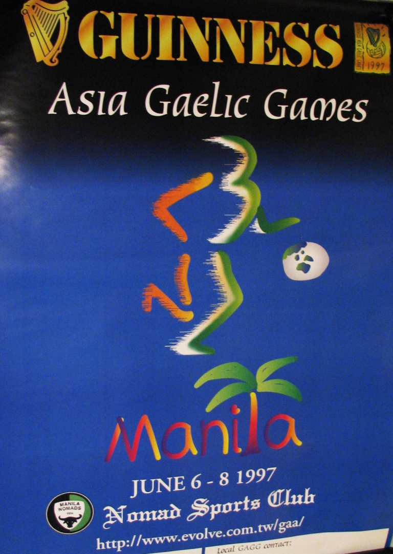 Official Poster - Asia Gaelic Games Manila 1997- Korea Kimchi Kickers