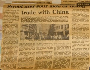 European Community and China Future Trade relations 1988