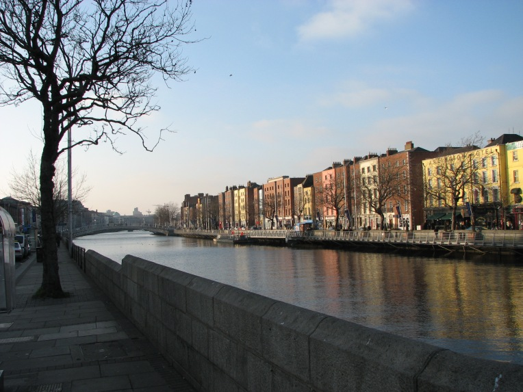 """Crisp"" - River Liffey toward Ha'penny Bridge, Dublin City, Ireland"