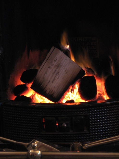"""The spirit of warmth is a blazing log fire"" - Moorefield, County Dublin, Ireland"