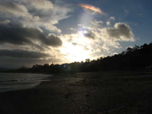 """Every cloud has a silver lining"" Killiney Beach, County Dublin, Ireland"