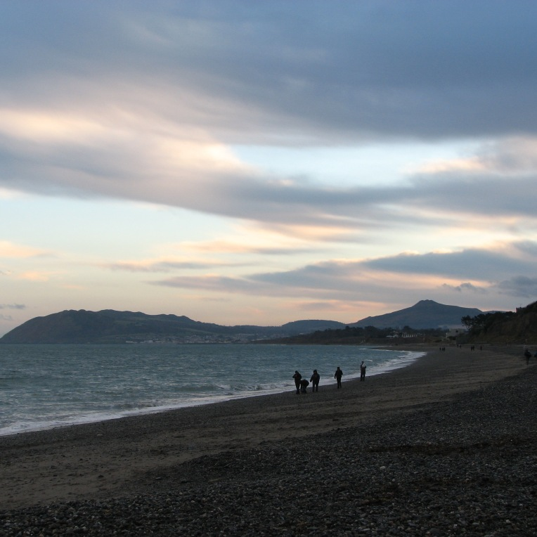 """The edgeof twilight"" - Killiney Bay looking towards Bray Head, County Wicklow, Ireland"
