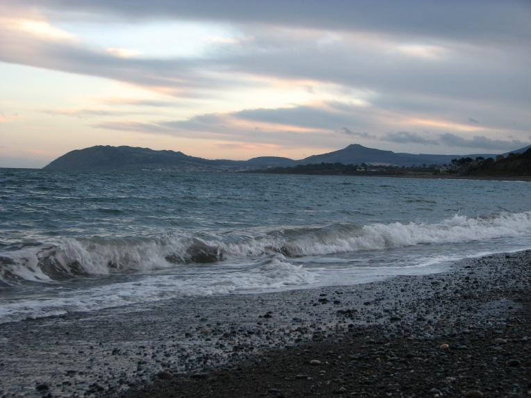 """The edge of twilight"" - Killiney Bay looking towards Bray Head, County Wicklow, Ireland"