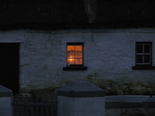 """At peace with winter"" - Dusk at thatched cottege, Clonboo, County Galway, Ireland"