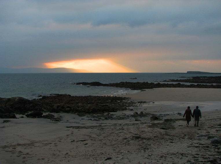 """The end of the day over Galway Bay"" - Winter twilight at Salthill Beach, County Galway, Connemara, Ireland"