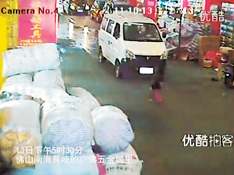 Wang Yue Foshan China Hit and Run