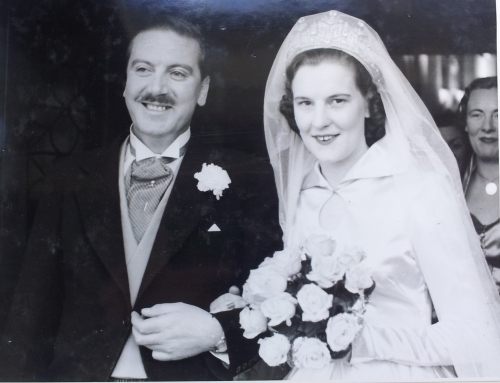 The 15th January 1953 marriage of Mum and Dad in the Church of the Sacred Heart in Donnybrook, Dublin.