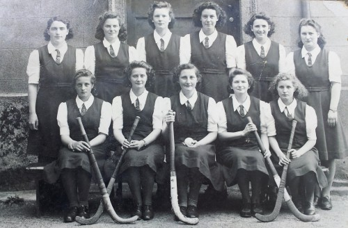 Newtown Barry 1st XI Hockey Team, 1943. Legs Eleven, Back Row 3rd from left.