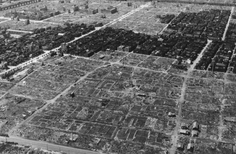 Tokyo after an incendiary bombing in 1945