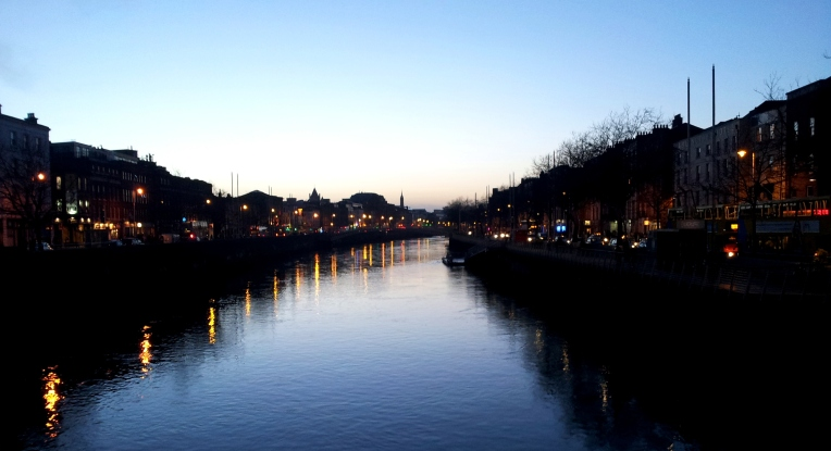 Dusk on the River Liffey - Dublin