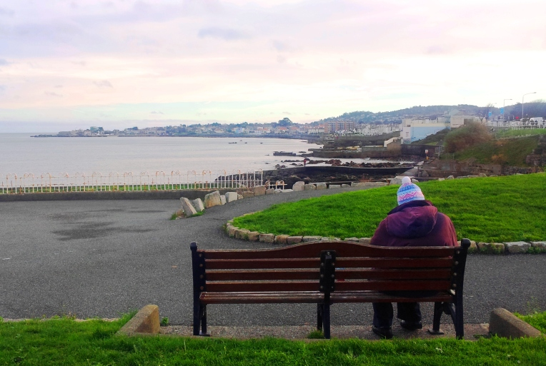 """A penny for your thoughts"" - Dun Laoghaire East Pier toward Sandycove"