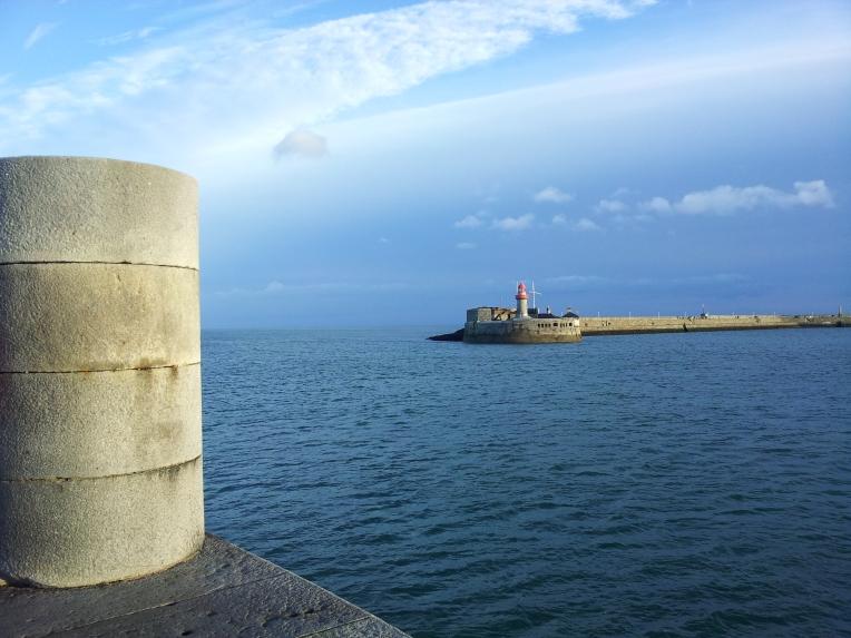 """Departure"" Dun laoghaire East Pier from Dun Laoghaire West Pier, County Dublin, Ireland"