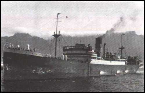Steamer typical of the tramp ships operating between south European ports and Liverpool in the early 1930s