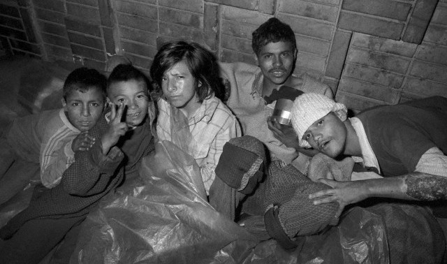 The gamines, or homeless street children, of Bogota sleep together, and form street gangs, to protect each other. They live off the proceeds of petty crime