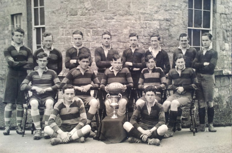 Liam O'Reilly (26 March 1913 - 8 May 1973).  Clongowes Wood College Senior Rugby Team (Top row, foirth from right)