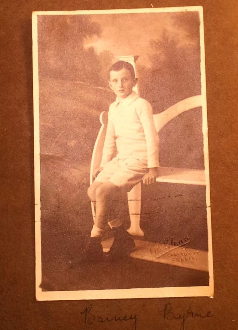 John Bernard Patrick Byrne - Barney - early childhood