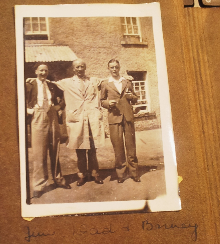 My Grandfather James Byrne, Senior, James Byrne Junior. and Barney Byrne (right).