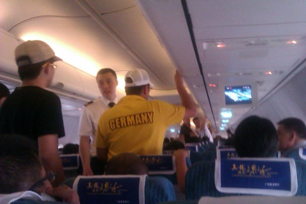 China - Under The Hood -  The Joys Of Flying In China -ready to take off and a demand for explanation why the plane is delayed