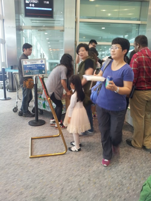 China - Under The Hood -  The Joys Of Flying In China - Time to board - queuing for food 2