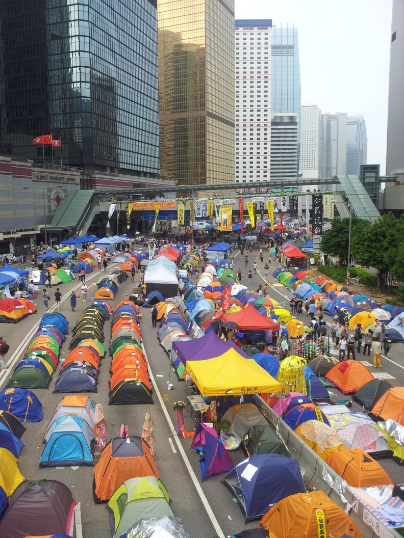 Embedded: Hong Kong's Yellow Umbrella Movement occupying Connaught Road Central