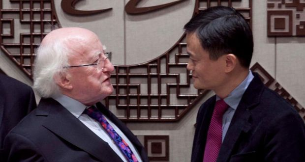 President Higgins of Ireland meets Jack Ma, Founder and Chairman of Alibaba Group, in Hangzhou